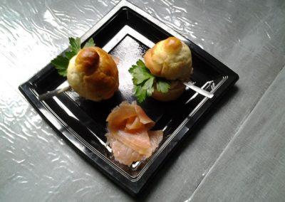 brioche et saumon fumé