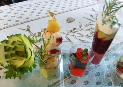 declinaison de verrines au pavillon gourmand