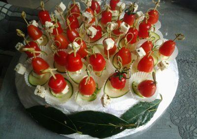 tomate cerise feta courgette